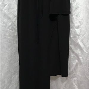Dress with asymmetrical bottom